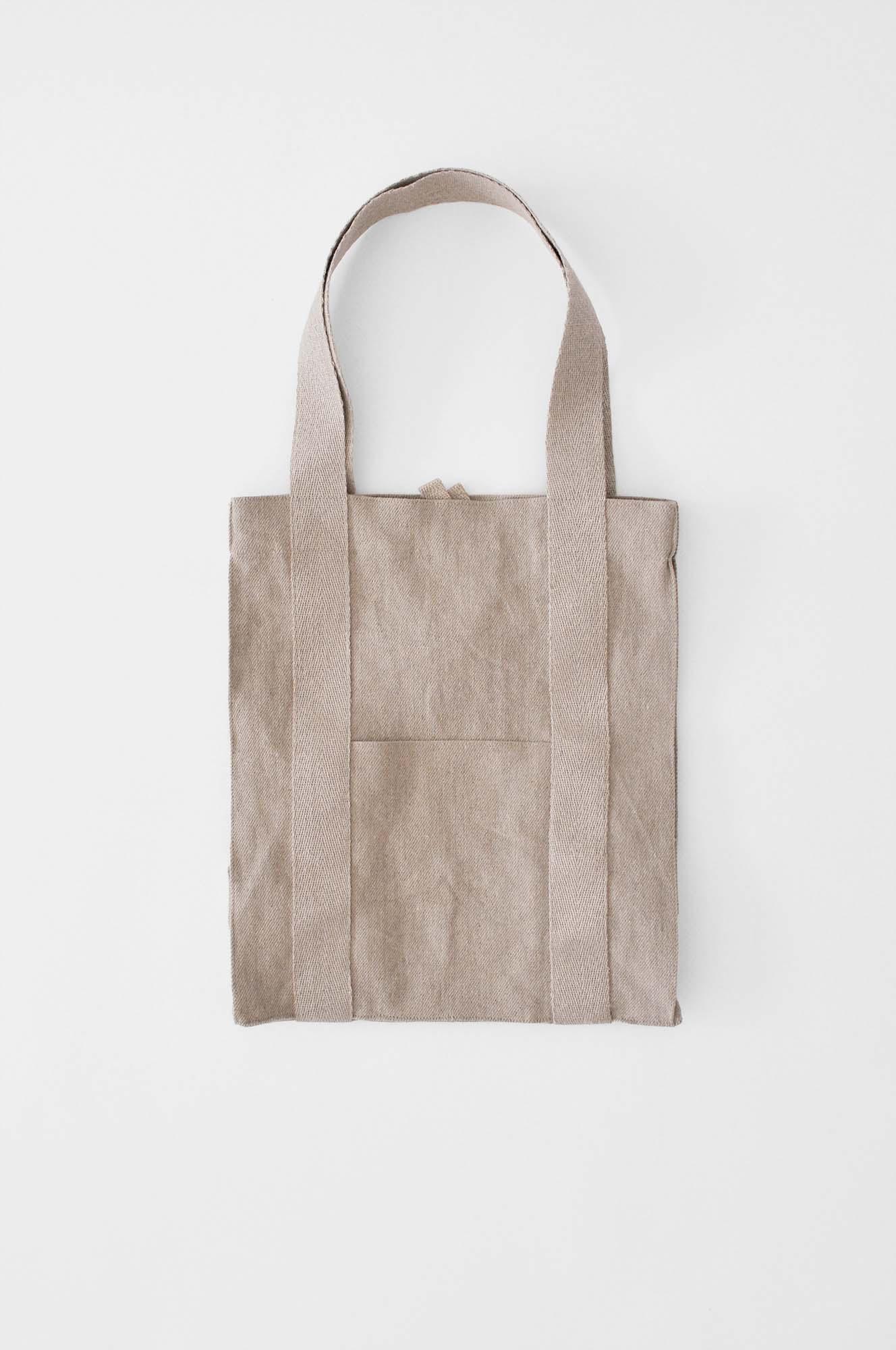 Linen yoga tote bag